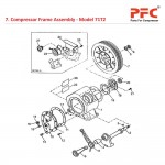 Compressor Frame Assembly For 71T2