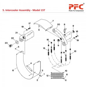 Intercooler Assembly IR 15T Air Compressor Parts