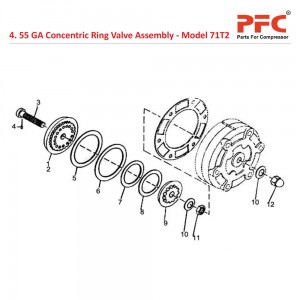 55 GA Concentric Ring Valve Assly. IR 71T2 Parts