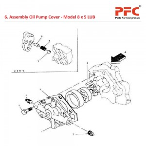 Assembly Oil Pump Cover For 8 x 5 LUB
