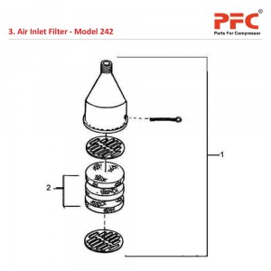 Air Inlet Filter IR 242 Air Compressor Parts