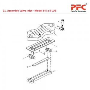 Assembly Valve Inlet For 9 1/2 x 5 LUB