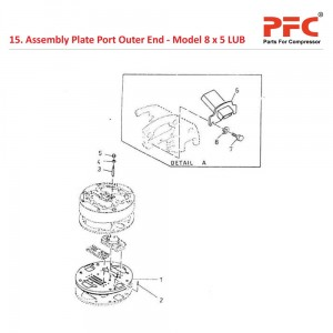 Assembly Plate Port Outer End For 8 x 5 LUB