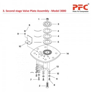 2nd Stage Valve Plate IR 3000 Compressor Parts