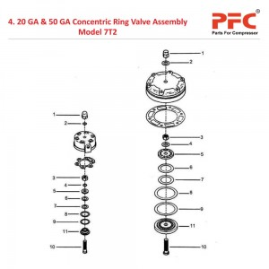 20 GA & 50 GA Concentric Ring Valve Assembly For 7T2