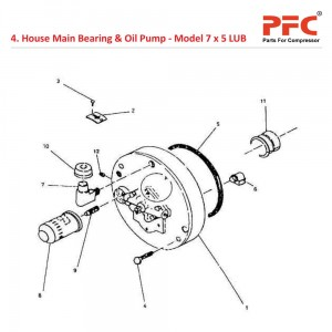 House Main Bearing & Oil Pump For 7 x 5 LUB