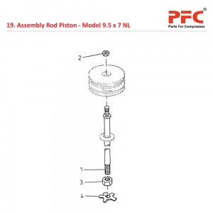 Assembly Rod Piston For 9 1/2 x 7 NL