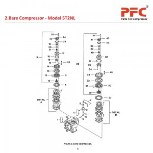 Bare Compressor IR 5T2 NL Air Compressor Parts