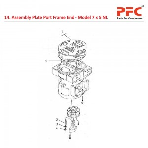 Assembly Plate Port Frame End For 7 x 5 NL