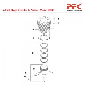 First Stage Cylinder & Piston IR 3000 Parts