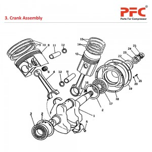 Crank Shaft - Atlas Copco Air Compressor Parts