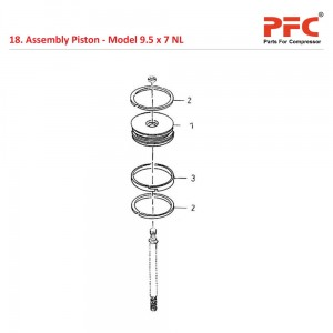 Assembly Piston For 9 1/2 x 7 NL