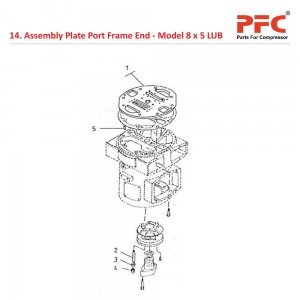 Assembly Plate Port Frame End For 8 x 5 LUB