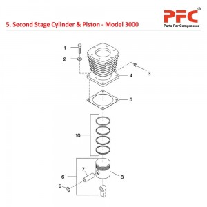 Second Stage Cylinder & Piston IR 3000 Parts