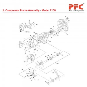Compressor Frame IR 7100 Air Compressor Parts