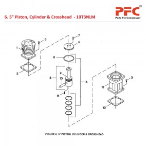 "5"" Piston, Cylinder & Crosshead"