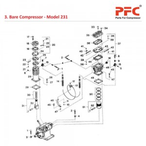 Cylinder and Piston Assembly For 231