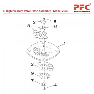 High Pressure Valve Plate For 2545