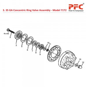 35 GA Concentric Ring Valve Assly. IR 71T2 Parts
