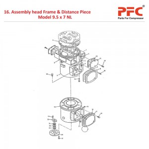 Assembly head Frame & Distance Piece For 9 1/2 x 7 NL