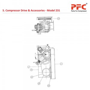 Compressor drive And Accessories for 231