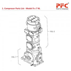 Compressor Parts List For 9 x 7 NL