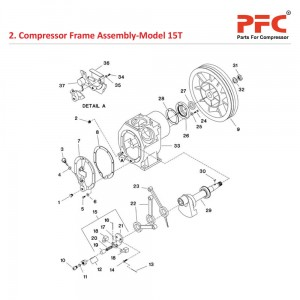 Compressor Frame Assembly IR 15T Parts