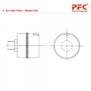 Air Inlet Filter for 231