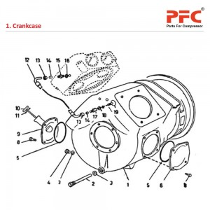 Crankcase - Atlas Copco Air Compressor Parts