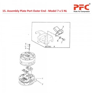 Assembly Plate Port Outer End For 7 x 5 NL