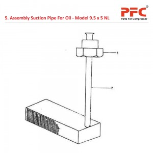 Assembly Suction Pipe For 9 1/2 x 5 NL