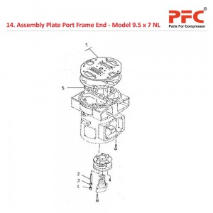 Assembly Plate Port Frame End For 9 1/2 x 7 NL