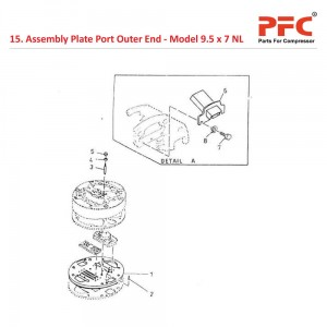 Assembly Plate Port Outer End For 9 1/2 x 7 NL