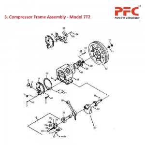 Compressor Frame Assembly For 7T2