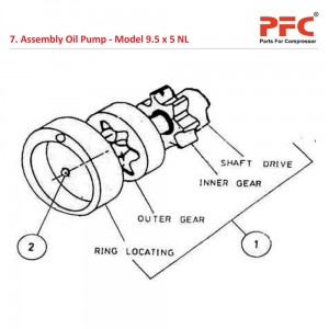 Assembly Oil Pump For 9 1/2 x 5 NL