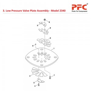 Low Pressure Valve Plate Assembly for 2340