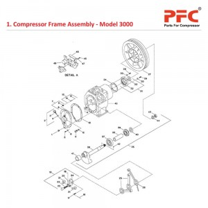 Compressor Frame IR 3000 Air Compressor Parts