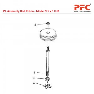 Assembly Rod Piston For 9 1/2 x 5 LUB