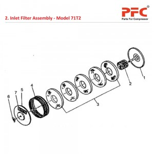 Inlet Filter IR 71T2 Air Compressor Parts