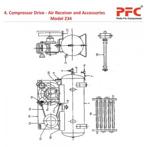 Compressor Drive - Air Receiver IR 234 Parts