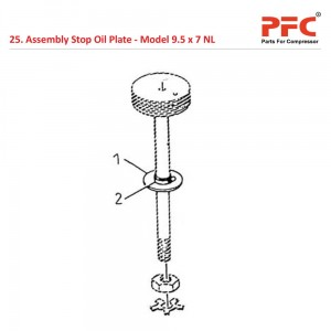 Assembly Stop Oil Plate For 9 1/2 x 7 NL