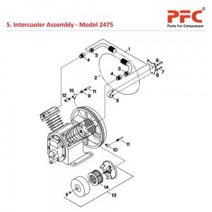 Intercooler IR 2475 Air Compressor Parts