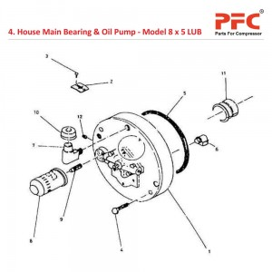 House Main Bearing & Oil Pump For 8 x 5 LUB
