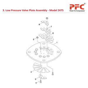 LP Valve Plate IR 2475 Air Compressor Parts