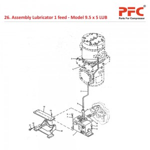 Assembly Lubricator 1 feed For 9 1/2 x 5 LUB