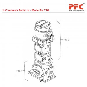 Compressor Parts List For 8 x 7 NL