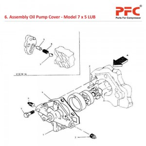 Assembly Oil Pump Cover For 7 x 5 LUB