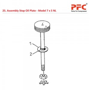 Assembly Stop Oil Plate For 7 x 5 NL