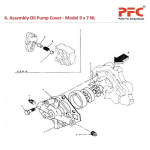 Assembly Oil Pump Cover For 9 x 7 NL