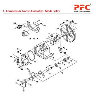 Compressor Frame IR 2475 Air Compressor Parts